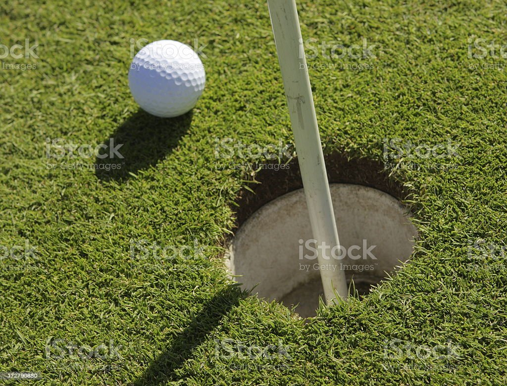 Golf Ball Putting Green Links Game royalty-free stock photo