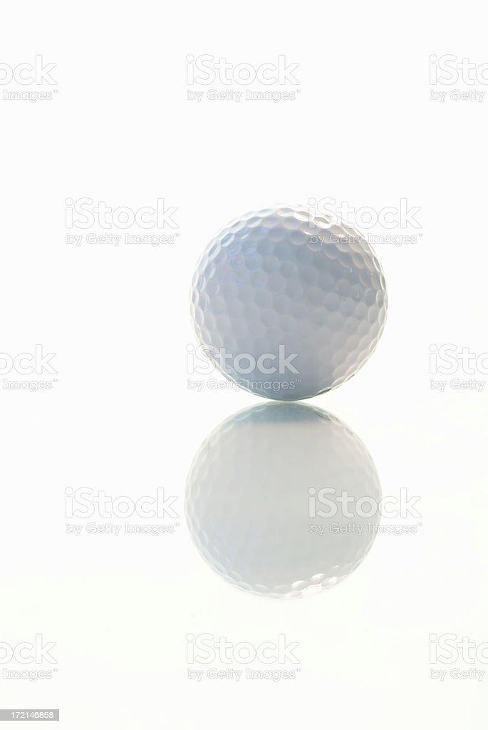 Golf ball reflection royalty-free stock photo