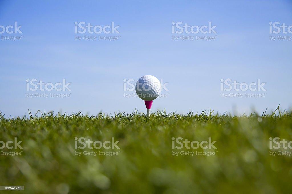 Golf ball tee up royalty-free stock photo