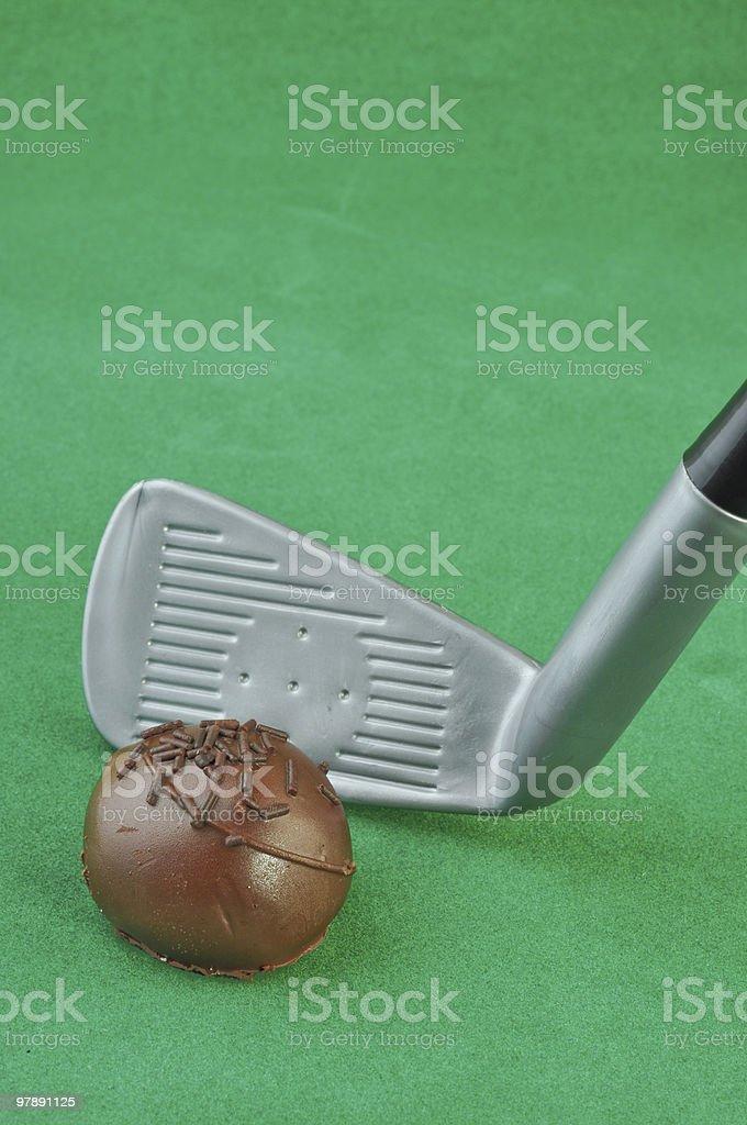 Golf Ball Truffle royalty-free stock photo