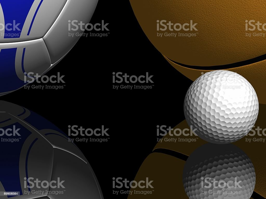 Pelota de Golf en la recepción foto de stock libre de derechos
