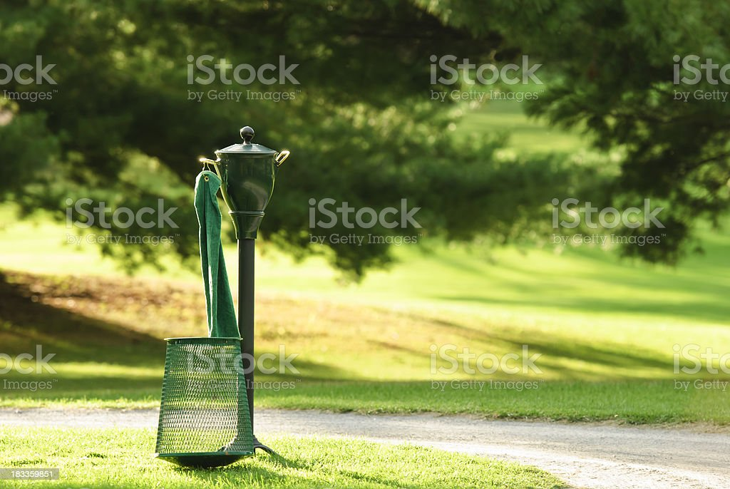 golf ball washer stock photo