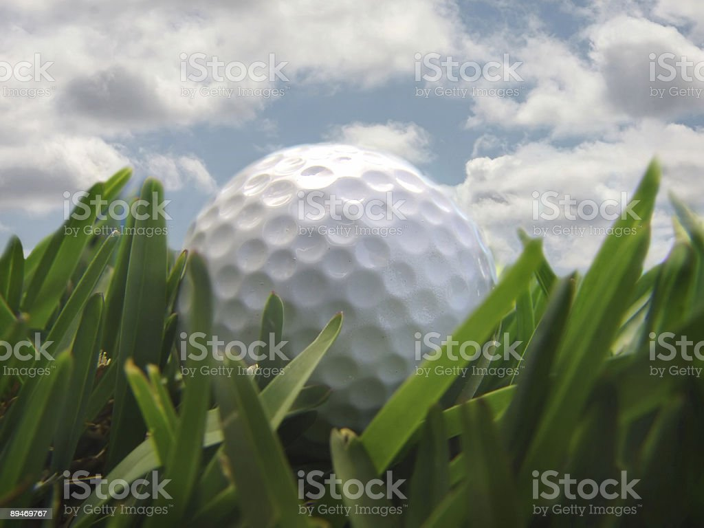 golf ball wiith clouds royalty-free stock photo
