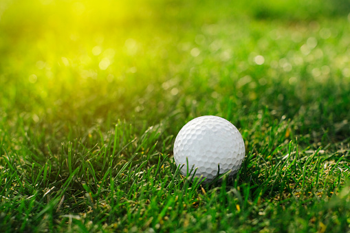 istock A golf ball with a number one on its side lies on the grass 1134087645