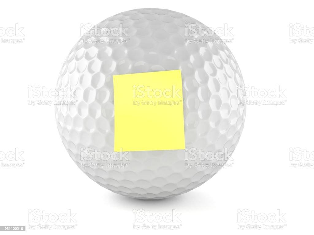 Golf topu boş sarı çıkartması - Royalty-free Beyaz Stok görsel