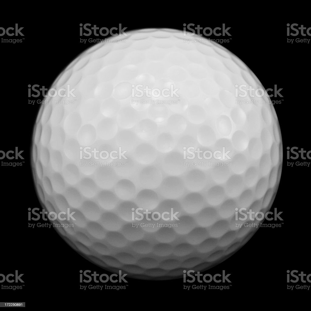 Golf Ball with Clipping Path royalty-free stock photo