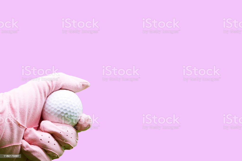 Golf ball and pink colour
