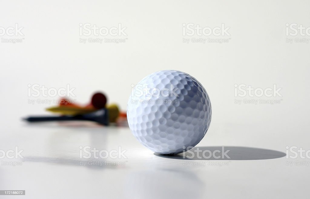 Golf Ball with Tees royalty-free stock photo