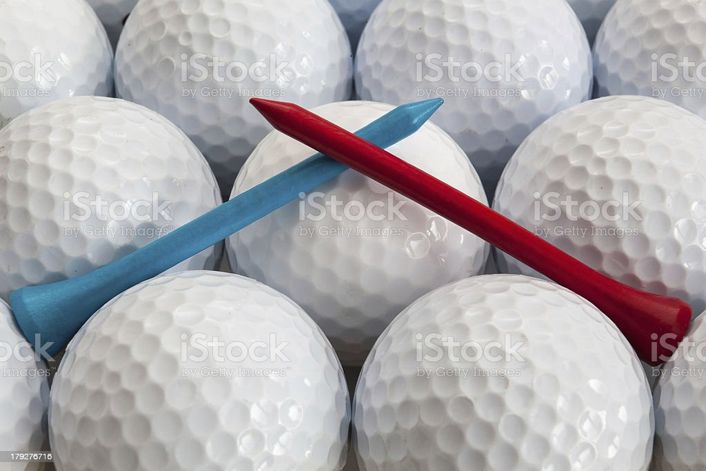 Golf balls and tees royalty-free stock photo