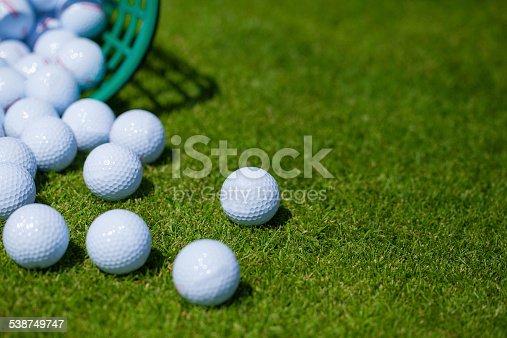 istock Golf balls .basket 538749747