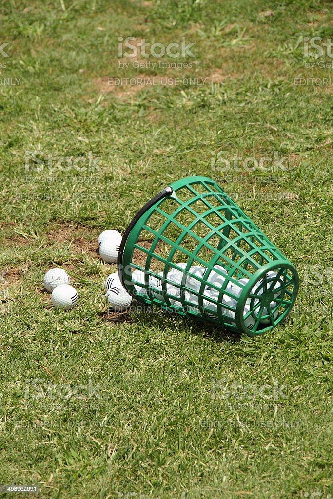 Golf Balls Bucket royalty-free stock photo