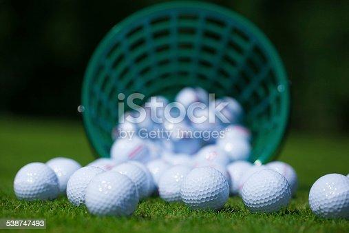 istock Golf balls bucket 538747493