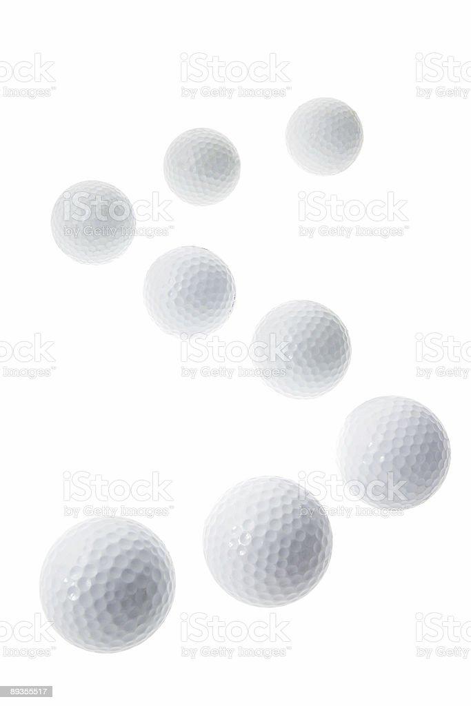 Golf Balls royaltyfri bildbanksbilder