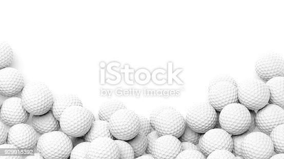 istock Golf balls pile 929918392