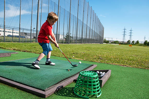 Golf bambini stock photo