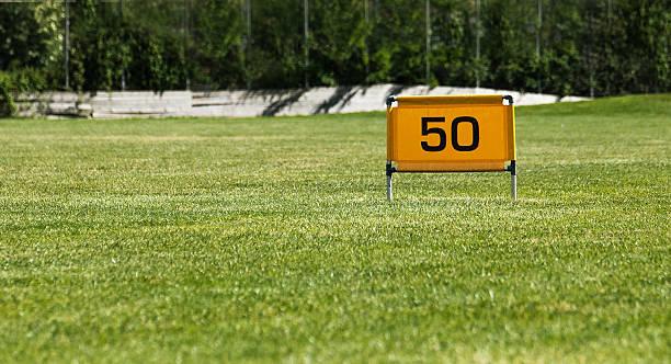 Golf, campo pratica stock photo