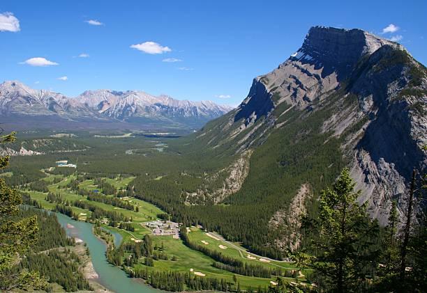 Golf Canadian Rockies stock photo
