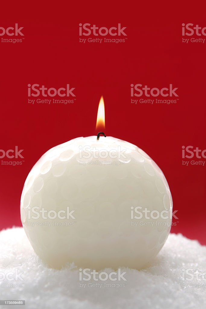 Golf candle stock photo