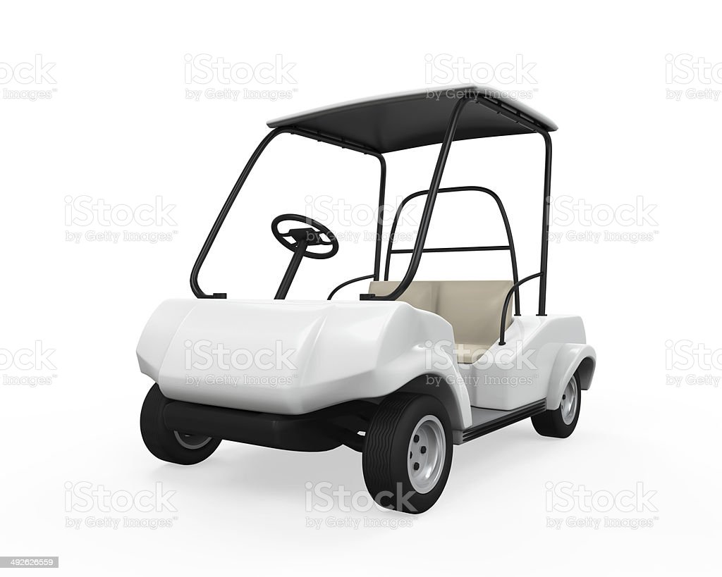 Golf Car Isolated stock photo