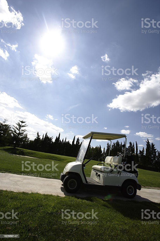 Golf Cart in the Sun royalty-free stock photo