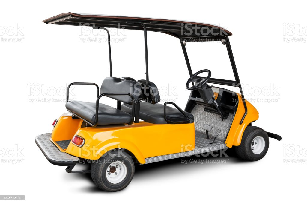 Golf cart isolated stock photo