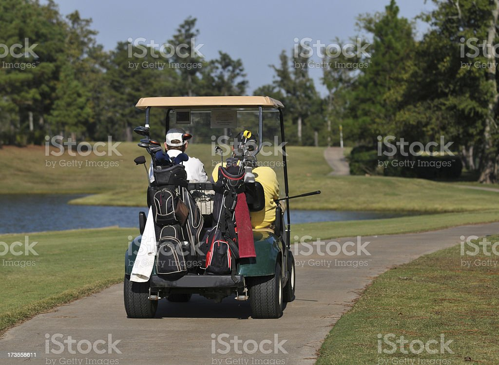 Golf Cart on the Go stock photo