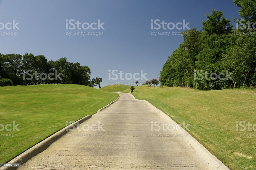 golf cart path 1 stock photo