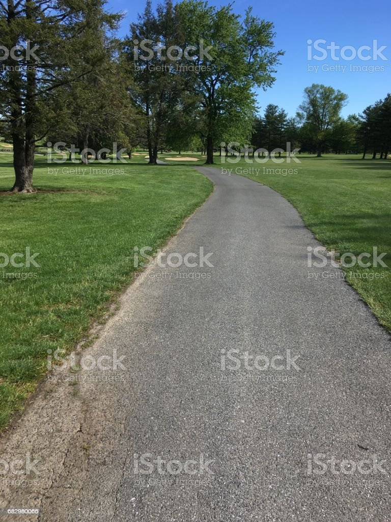 Golf Cart Path stock photo