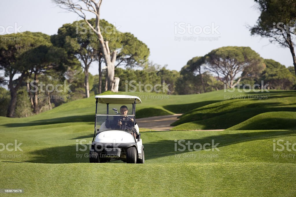 Golf cart royalty-free stock photo