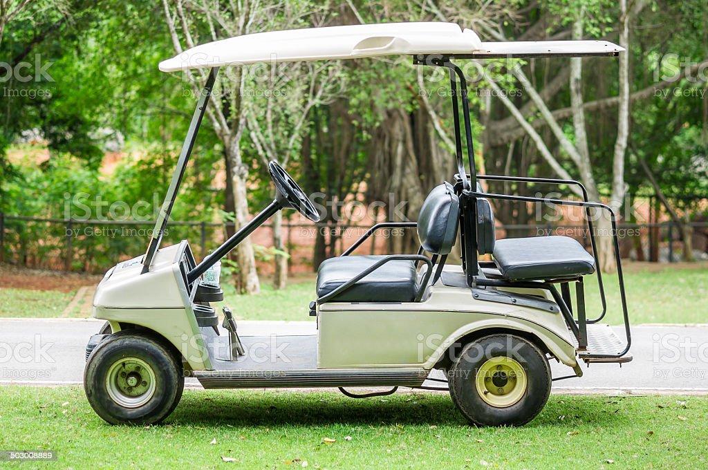 Golf cart stock photo