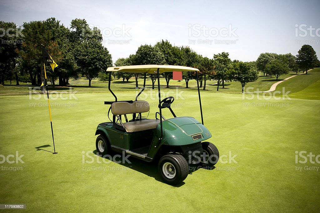 golf cart series stock photo