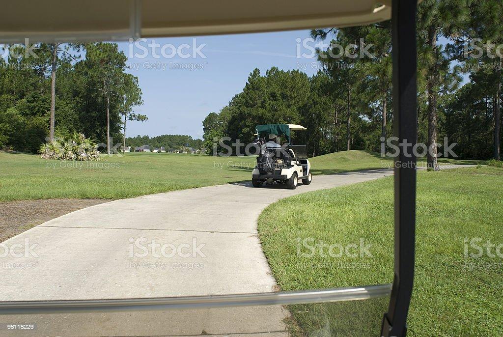 골프 카트 창 royalty-free 스톡 사진