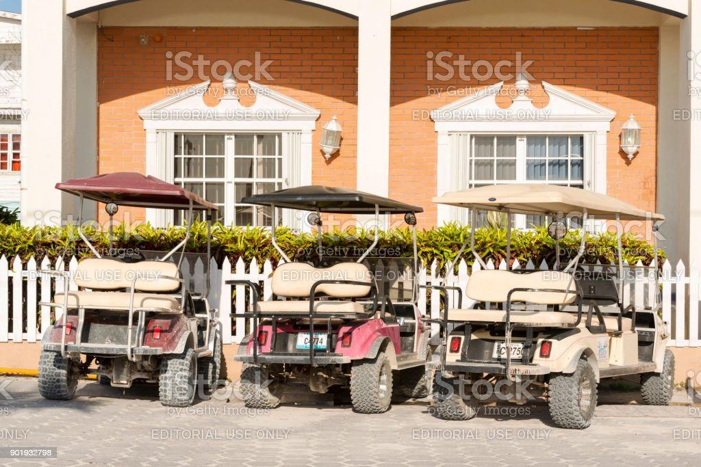 Golf Carts in San Pedro stock photo