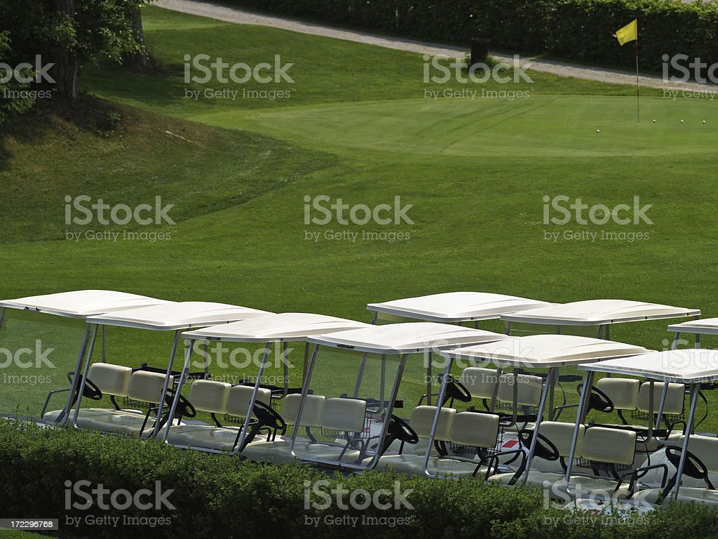 Golf carts royalty-free stock photo