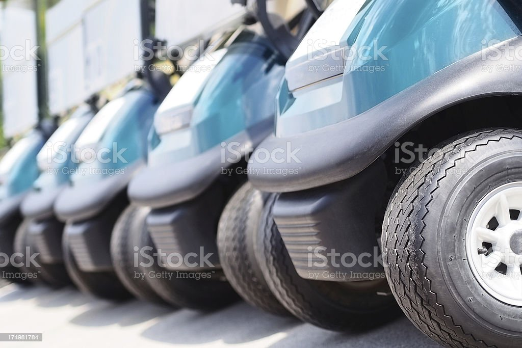 Golf carts royalty-free stock photo