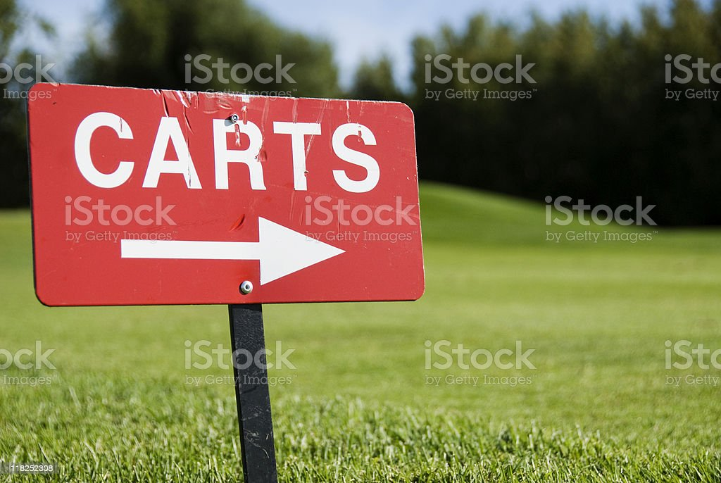 Golf Carts sign stock photo