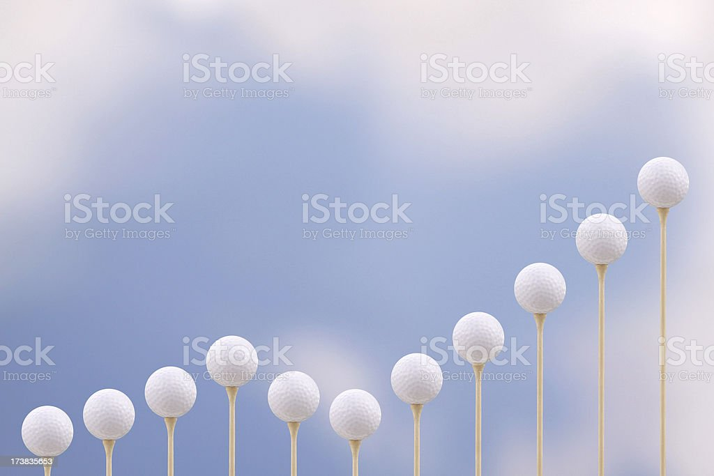 Golf Chart stock photo