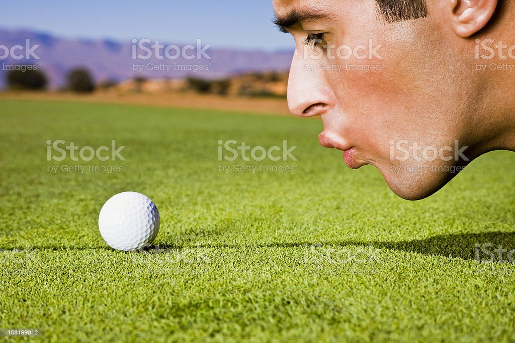 Golf Cheat royalty-free stock photo