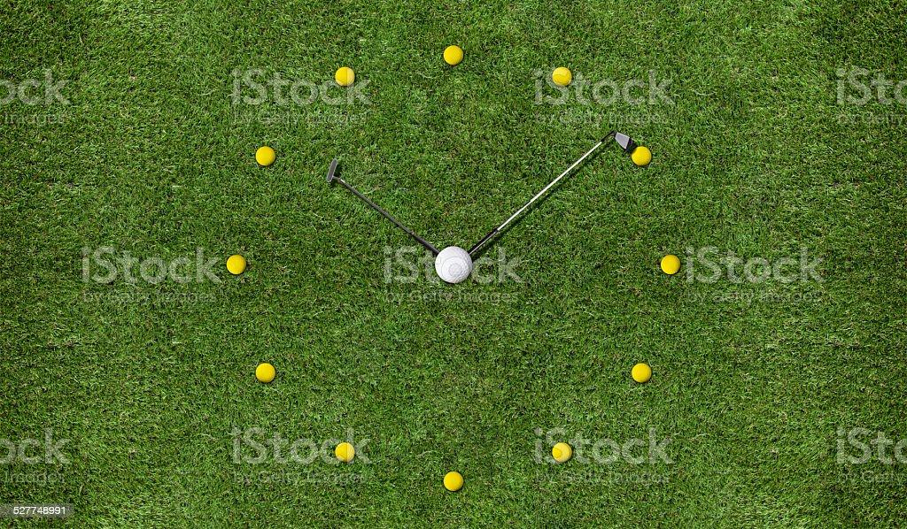 Golf Clock stock photo