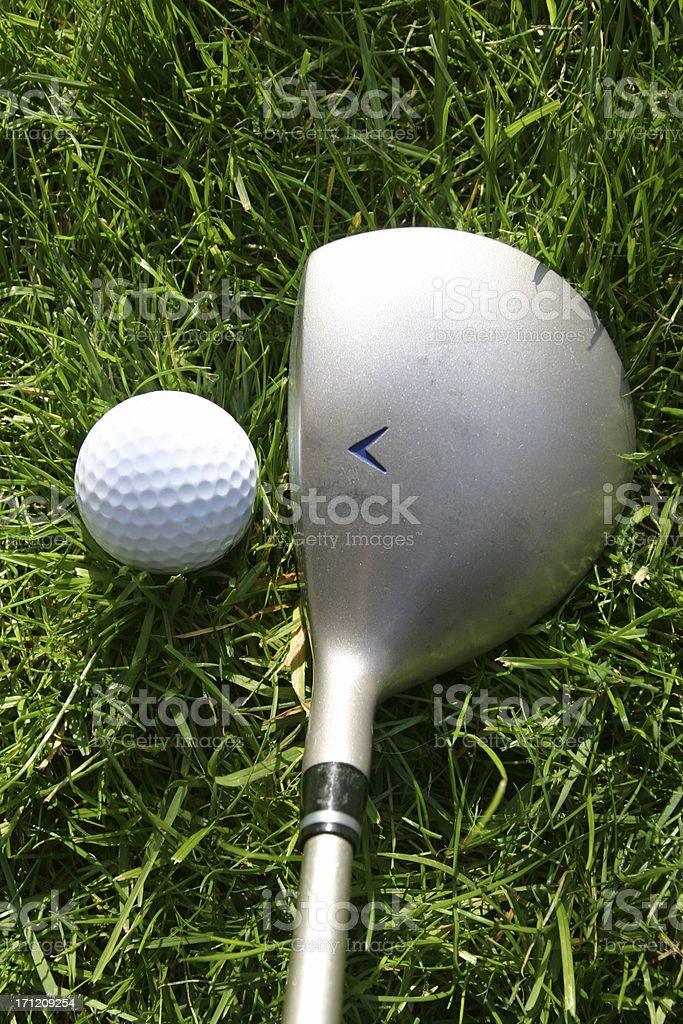 Golf club and ball 2 royalty-free stock photo
