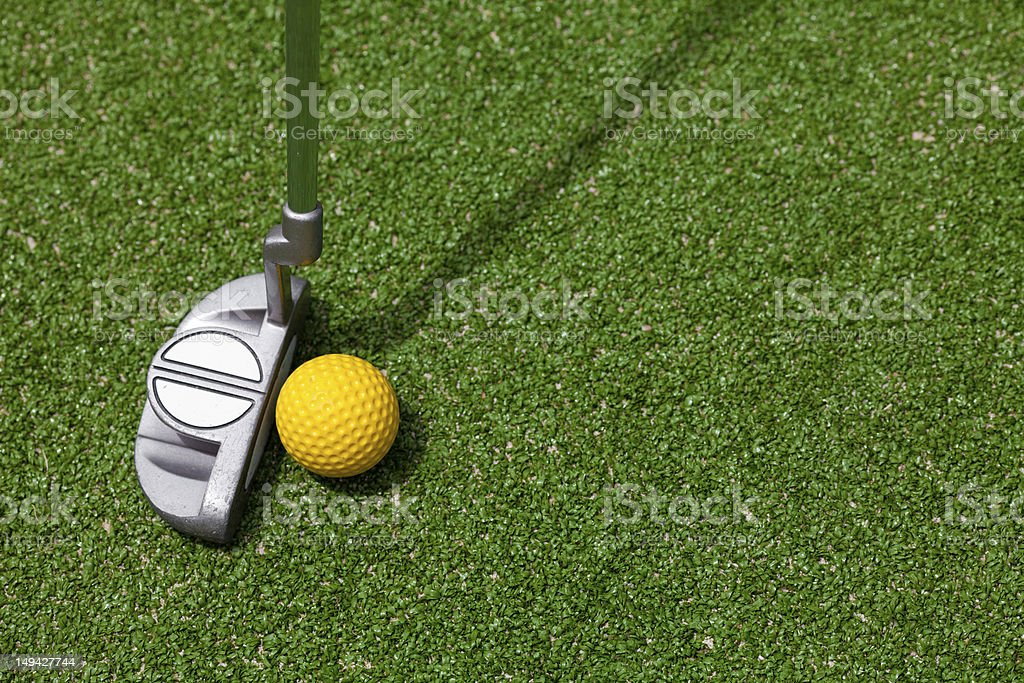 golf club and ball top view