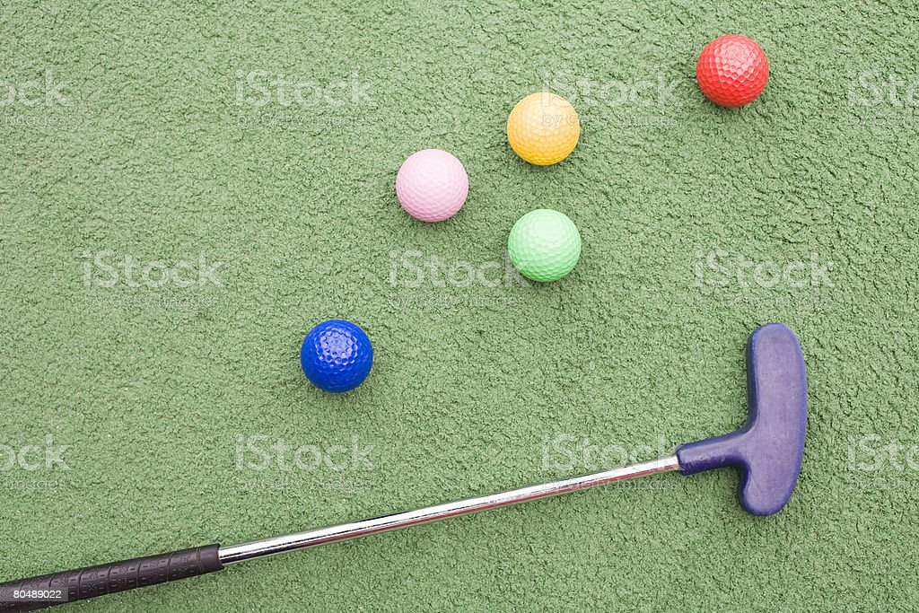 Golf club and golf balls royalty-free 스톡 사진