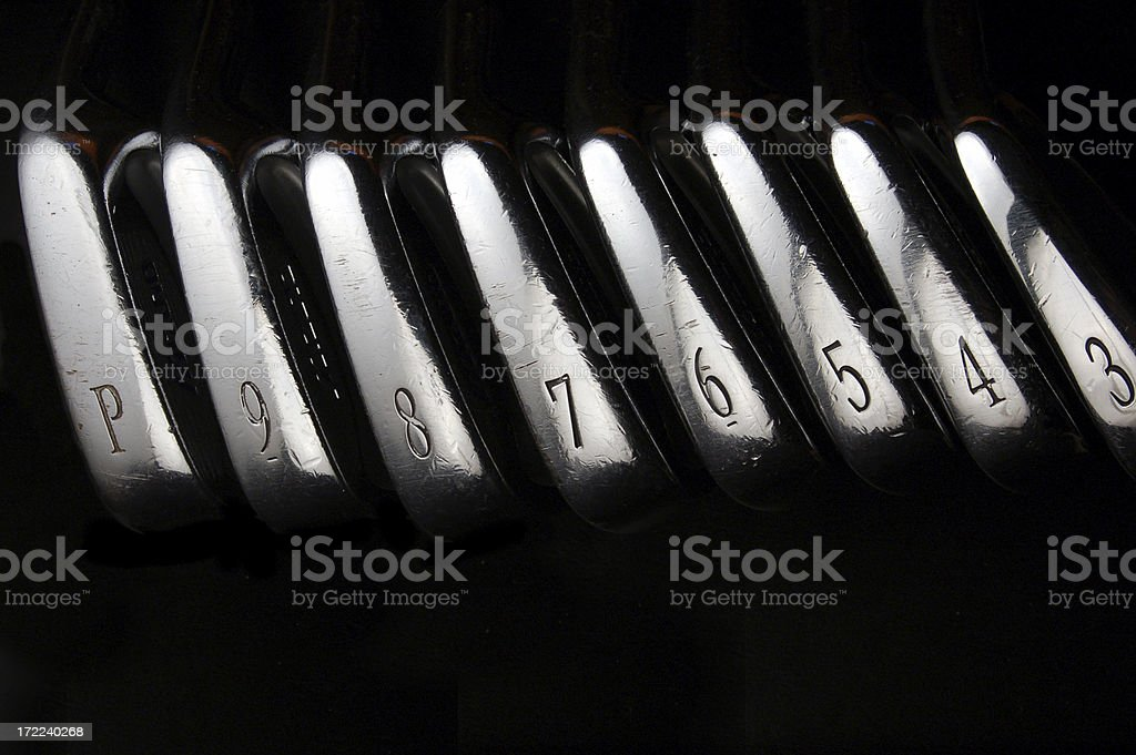 Golf club set royalty-free stock photo