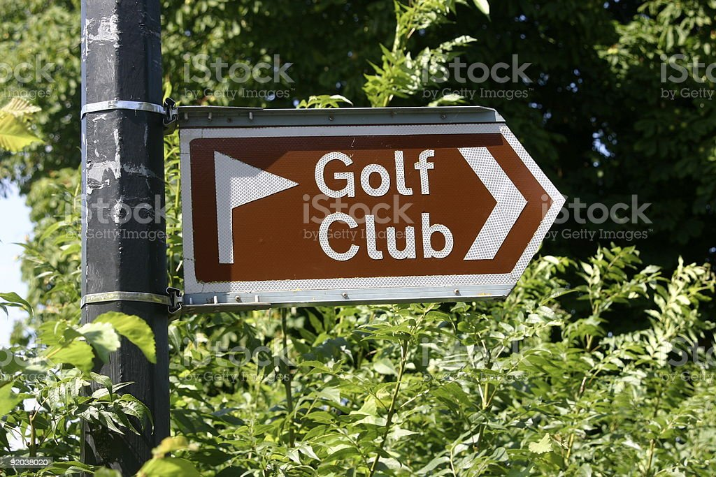 Golf club sign royalty-free stock photo