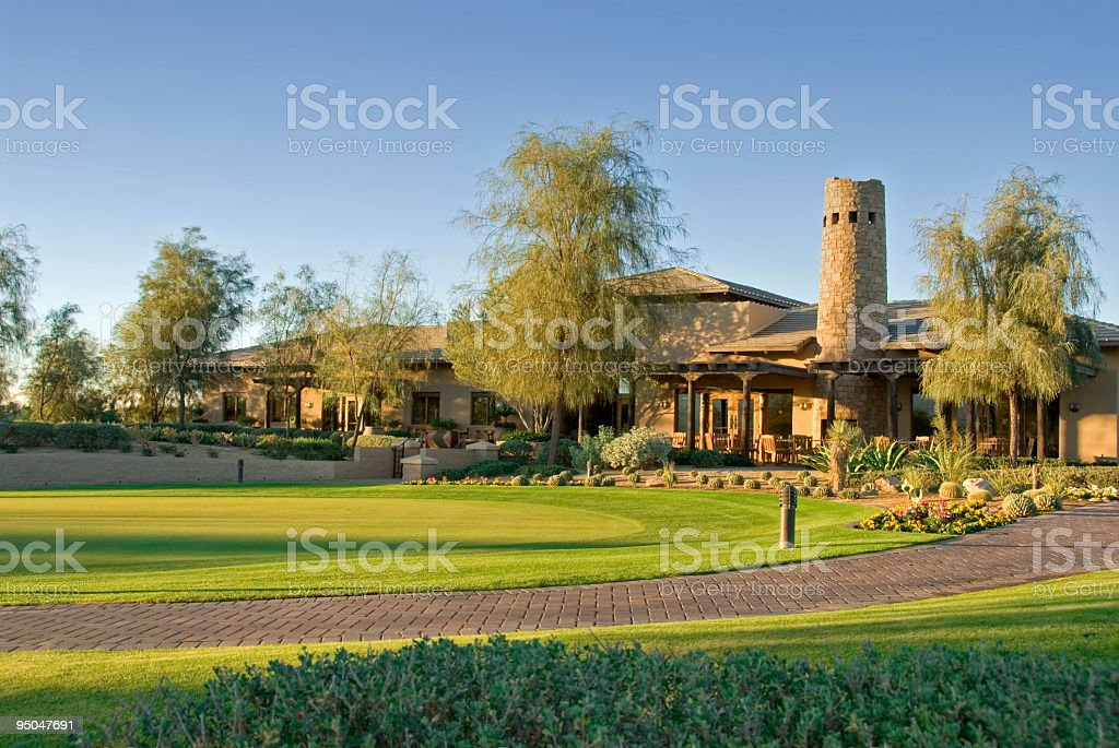Golf Clubhouse and Pro Shop stock photo