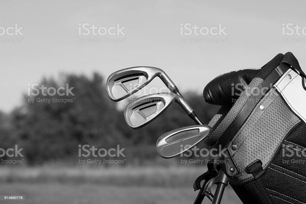 Golf clubs BnW - Photo