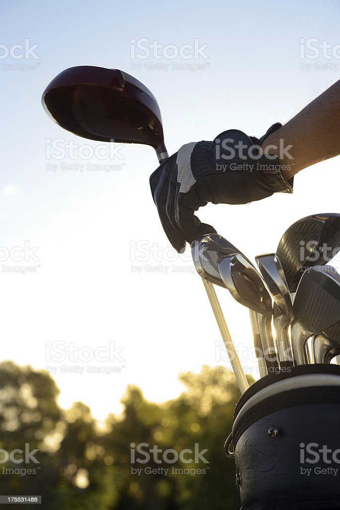 Golf clubs royalty-free stock photo