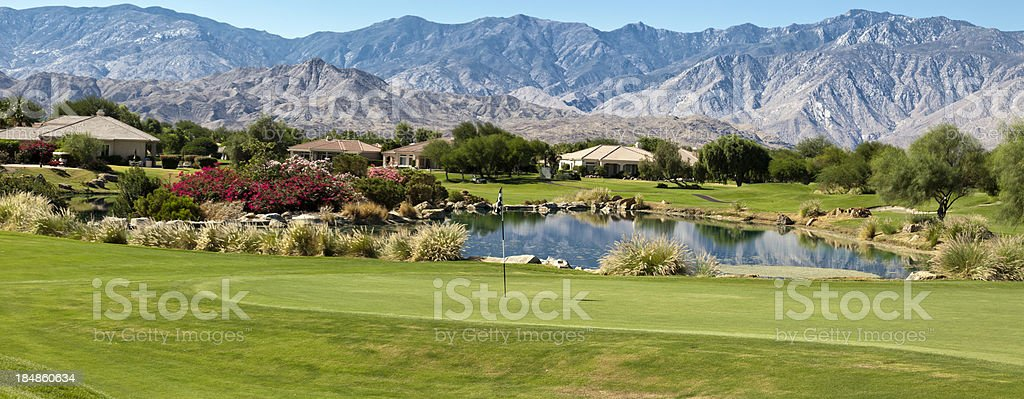 Golf Community Panorama stock photo