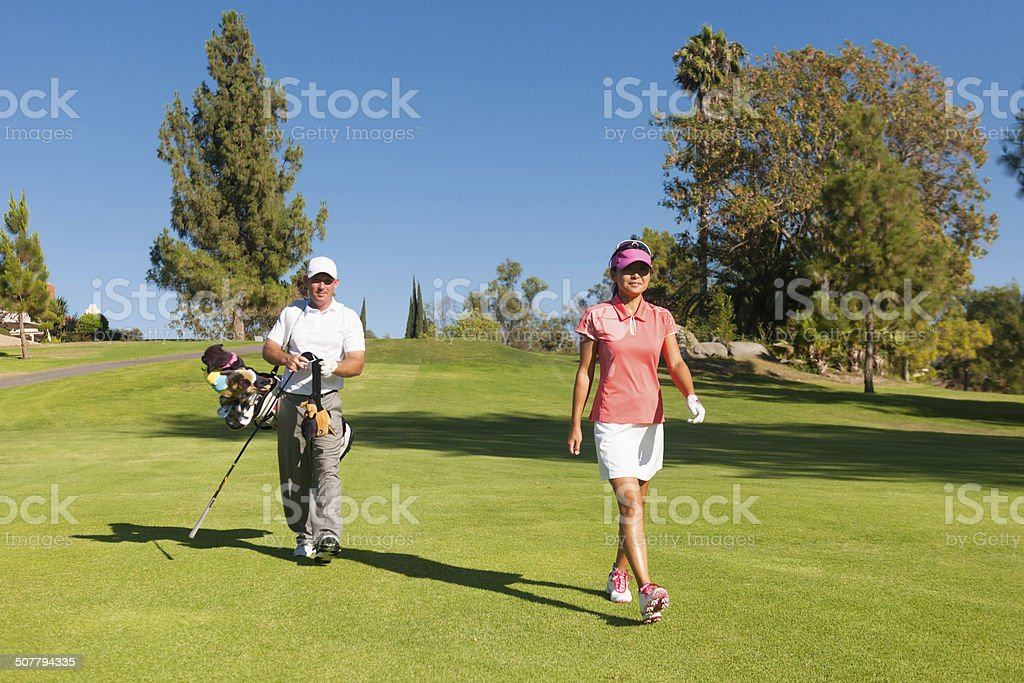 Golf Couple stock photo