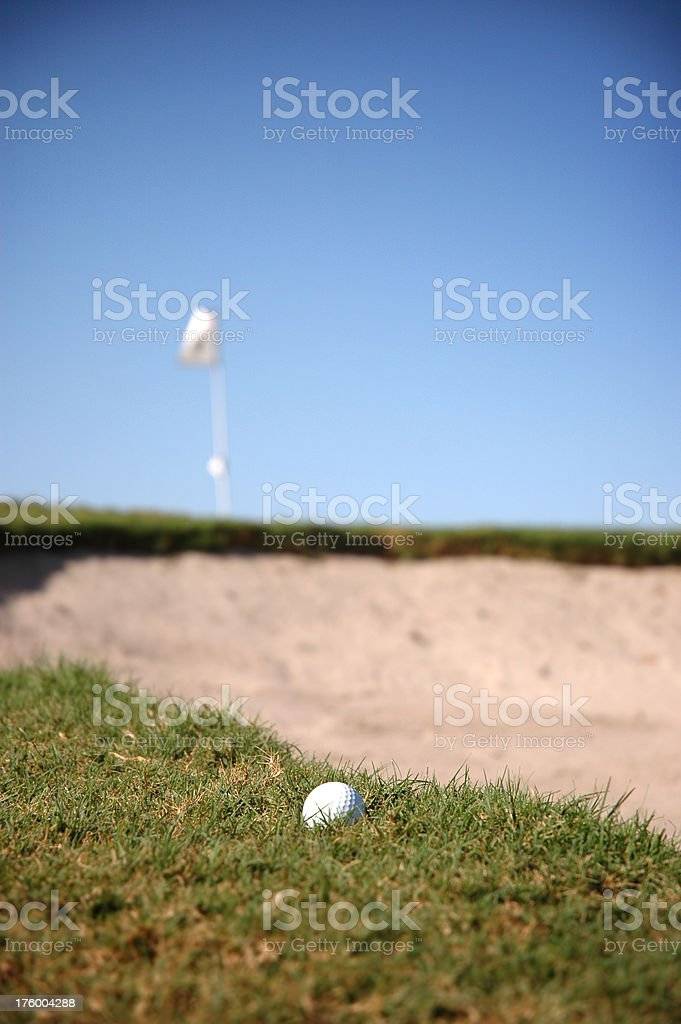 golf course and ball 02 royalty-free stock photo